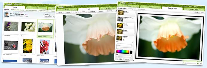 Graphics Picnik Screenshots