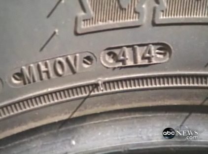 This tire was made in the 41st week of 1994.