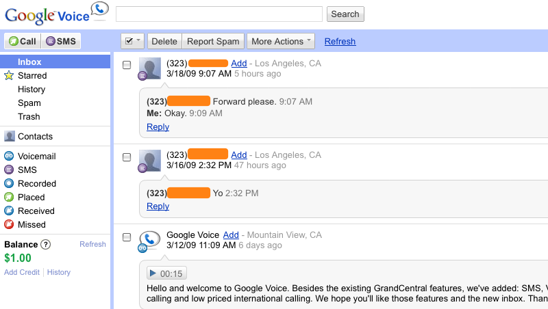 Voicemail transcription is freakily awesome.