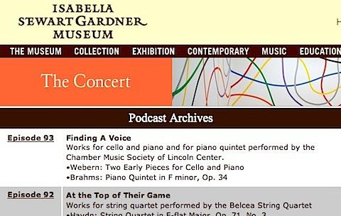 The Concer @ Isabella Stewart Gardner Museum