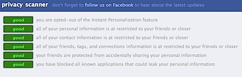 Facebook Privacy Scanner