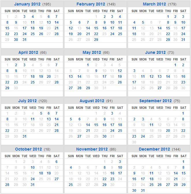 2012 Flickr Calendar