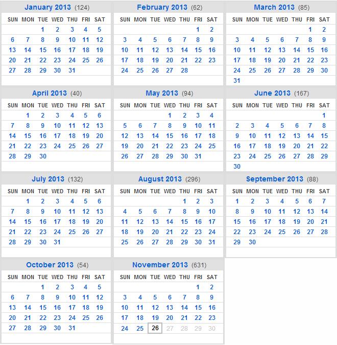 2013 Flickr Calendar